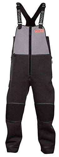 STORMR Men's Performance Andjustable Shoulders Reinforced Knees and Seat Black Strykr Bib, Small