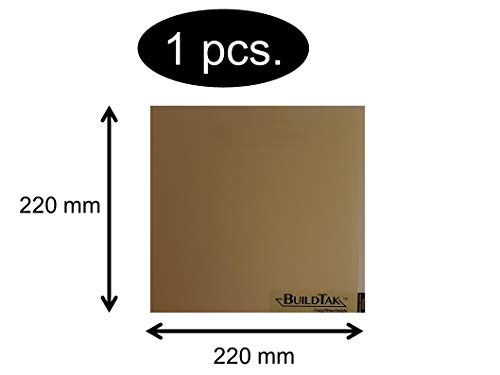 BuildTak - Tappetino per stampa PETG, diverse dimensioni, 220 x 220mm PEI220x220, 1