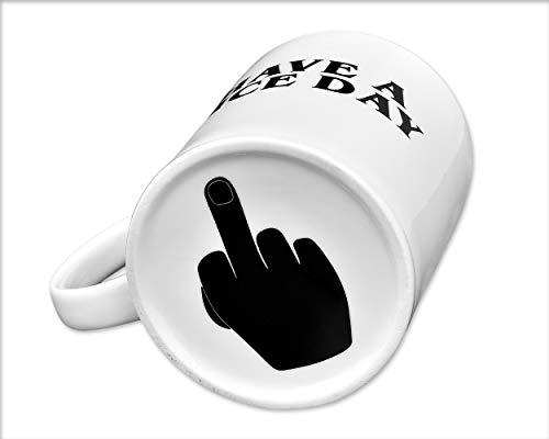 ds. distinctive style La Tazza di caffè di ha Una Tazza di caffè Have A Nice Day 350ml Tazza di tè di medaglia di 350ml (Bianco)