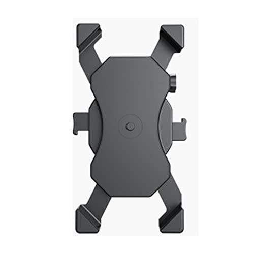 CandyTT Support de téléphone pour vélo, Support réglable à 360 degrés pour Guidon de Moto, Pince de téléphone pour Scooter, pour téléphone Portable de 4,0 à 6,8 Pouces (Noir 177 * 89 * 110 mm)