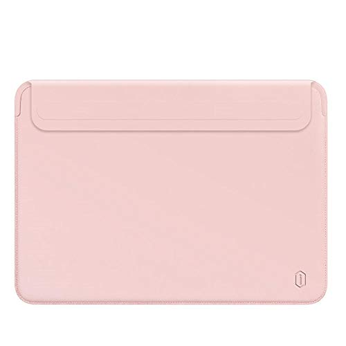 OWIME Portable Newest Laptop Sleeve Case For Macbook Pro 13 A2338 M1 A2159 A2289 Pu Leather Laptop Carry Sleeve For Macbook Pro 16 Case A2141 (Color : Pink, Size : New Mac Air 13 A1932)
