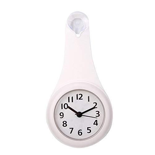 Langlebig und zuverlässig mit Sucker Badezimmeruhr, Badezimmeruhr Digital, für Badezimmer, Küche, Schlafzimmer(white)