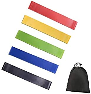 5PCS/Set Resistance Band Yoga Exercise Pull Rope Elastic Bands fitness 6Levels Latex Gym Strength Training Rubber Loops Ba...