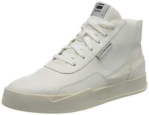 G-STAR RAW Herren Rackam Revend Mid Sneaker, Milk 8708-111, 45 EU