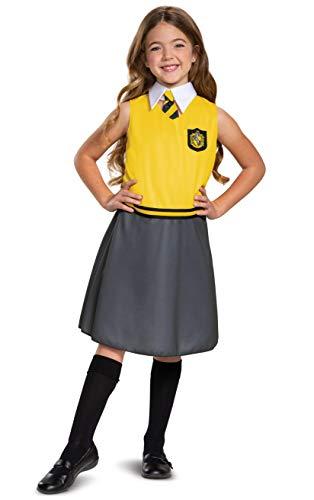 Disguise Harry Potter Hufflepuff Dress Classic Girls Costume, Yellow & Gray, Kids Size Medium (7-8)