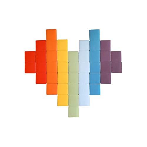 Fenel & Arno – Mosaico con forma de corazón multicolor, azulejos de cristal adhesivos para exterior