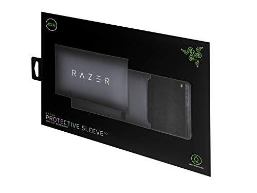 Razer Laptop-Schutzhülle, 38,1 cm (15 Zoll), Kratz- & wasserabweisend, gepolstertes Innenfutter, reißfester Klettverschluss, ausklappbares Mauspad, klassisches Schwarz, RC21-01580100-R3M1