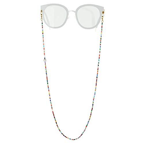 C·QUAN CHI Cadena para Gafas Cordones para mascarillas Gafas Cadena para Gafas Cadenas multifuncionales para Gafas Collar con Cuentas Cordón para Mujeres Niños Regalos (66-68cm)