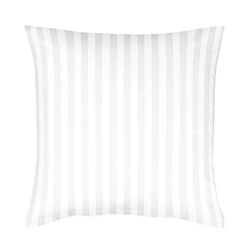 Fleuresse Damast Kissenbezug, weiß, 80 x 80 cm