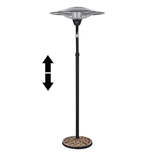 YQYJX Outdoor Patio Heaters, Indoor Umbrella Electric Heater, Height Adjustable Telescopic Rod, Patio Propane Height Heater for Garden Terrace