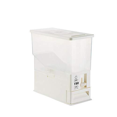 XYZMDJ Secchio per Riso da 5 kg Contenitore per Riso con dosaggio Automatico Contenitore sigillato Contenitore per Cereali sigillato a Prova di Insetti per Cucina Ristorante