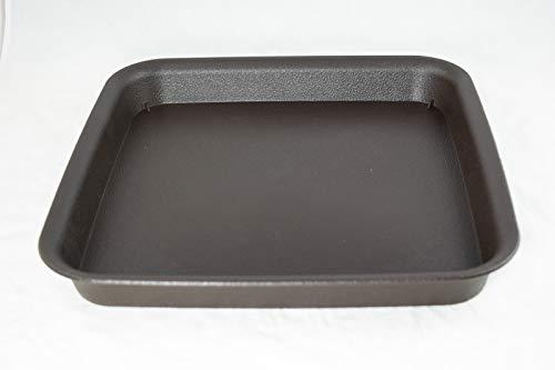 Square Plastic Humidity/Drip Tray for Bonsai Tree Outside Dimension 11'x 11'x 1.5' - Dark Brown