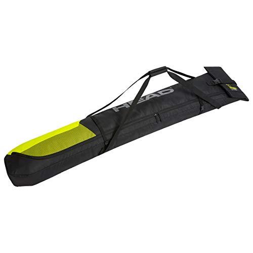HEAD Unisex– Erwachsene Double Skibag Skitasche, schwarz/gelb, Einheitsgröße