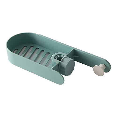 Contenitore di plastica per rubinetto da cucina per lavello da appendere può essere drenato quadrato scaffale scatola verde