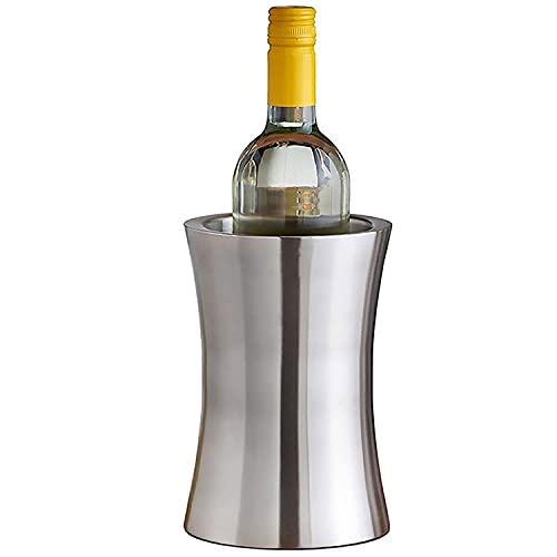 AWJ Cubo de Hielo Aislado de Acero Inoxidable de Doble Pared, Vino, Enfriador de Bebidas de Botella de Cerveza, para Fiesta/hogar/Bar