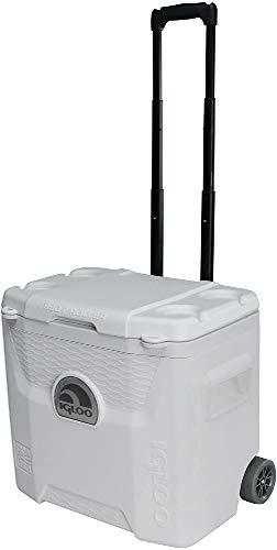 Igloo Products Corporation 00045929 Marine Ultra Quantum Roller Cooler, 28 Quart,White, White, White, Black
