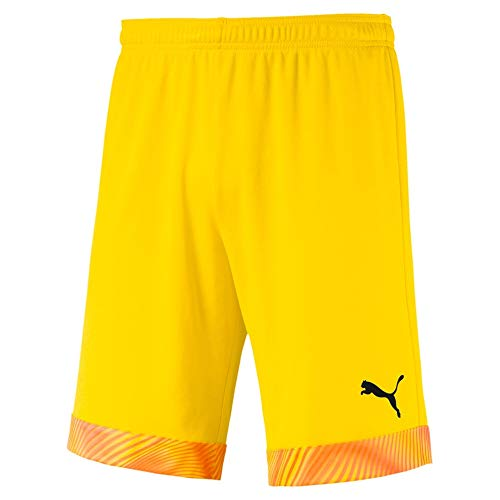 PUMA Cup Shorts Short Homme Cyber Yellow/Puma Black FR : S (Taille Fabricant : S)