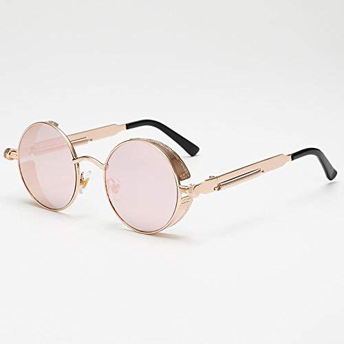 Occhiali da sole Per gli Uomini Metallo Vapore Punk Occhiali Da Sole Uomini Donne Moda Rotonda Occhiali Da Sole Vintage Uv400 Eyewear Shades, 5