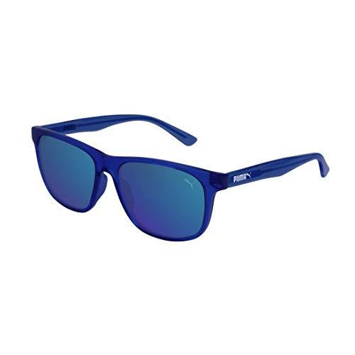 PUMA Jungen Junior Sonnenbrille, Blue/Blue, 52