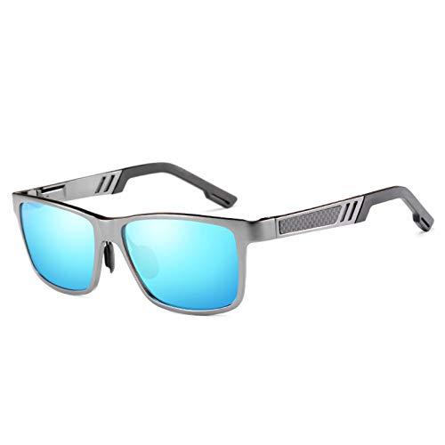 Gafas De Sol Polarizadas De Colores para Hombre con Monturas De Aluminio-Magnesio 100% UV400, Adecuadas para Hombres Y Mujeres, Ciclismo, Pesca, Conducción,A