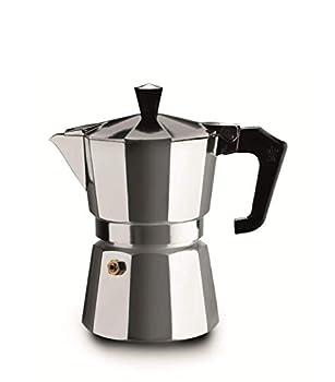 Pezzetti Stove-Top Moka Espresso Italian-Made Coffee Maker Moka Pot- 1,2,3,6,9,14 Cup  3 Cup