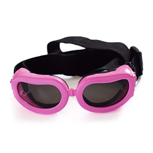 Pet Dog Cat Glasses Sonnenbrillen- Schutzbrille Geeignet für Kleine und mittlere Hunde Einstellbar,pink