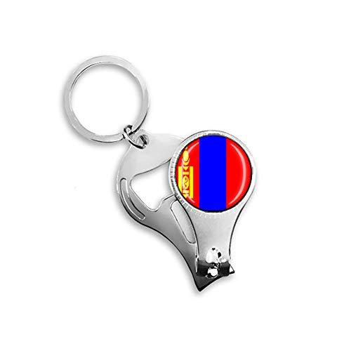 Flaschenöffner mit Mongolei-Flagge, Metall, Glas, Kristall, Schlüsselanhänger, Reise-Souvenir, Geschenk, Zubehör