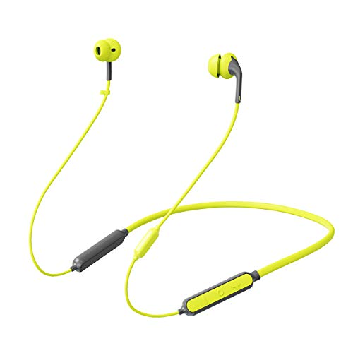 233621 Wave Bluetooth Headphones IPX5 Waterproof Wireless Sport Earbuds, 15H Battery, Bluetooth 5.0, 10.7mm Drivers HiFi Stereo,Ultra Comfort Fit,W/cVc6.0 Mic Noise Cancelling Earphones (Lime Coral)