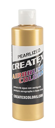 Createx Colors Paint for Airbrush, 8 oz, Pearl Satin Gold by Createx Colors