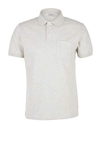 s.Oliver RED Label Herren Poloshirt aus Jersey Vanilla Stripes XL