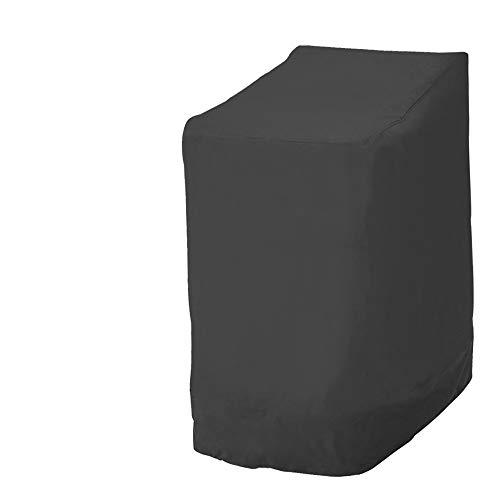 crossbroder - Funda para sillas de jardín impermeable y plegable de 420D Oxford, resistente, 210D Nero