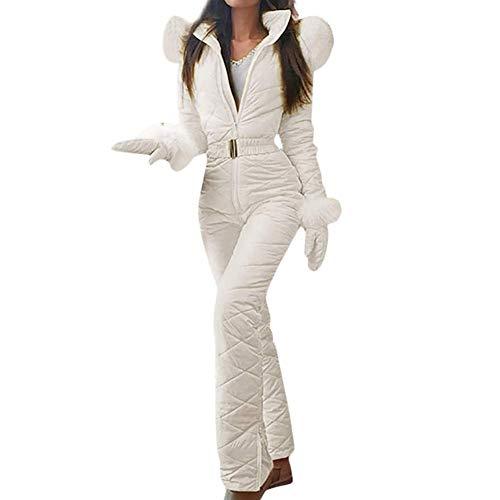 Brownrolly Tuta da Sci da Donna, Tuta da Neve Calda Invernale da Donna Pantaloni Sportivi all'aperto Tuta da Sci Tuta da Pioggia Muta per Sci, Sport, Regalo