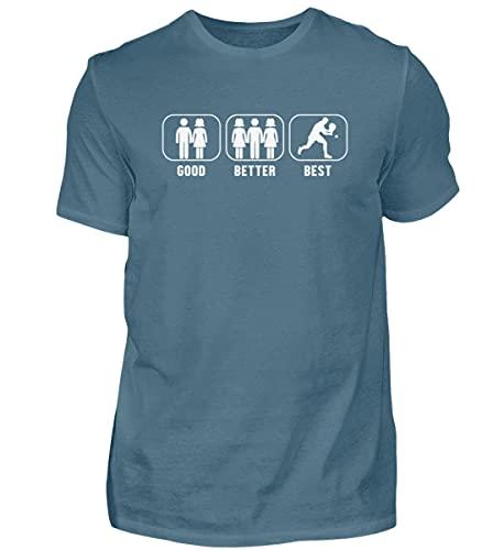 Padel Padel Padel Padel-Tennis | 01076 - Camiseta para hombre Color azul. L