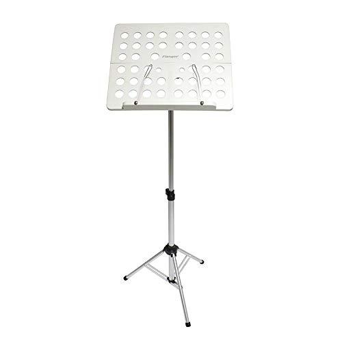 Seasaleshop Orchesterpult Ständer Notenständer Klappbar mit Notenklemmen, Abnehmbare Ablage Ausziehbar von 70 cm bis 144 cm schwarz by