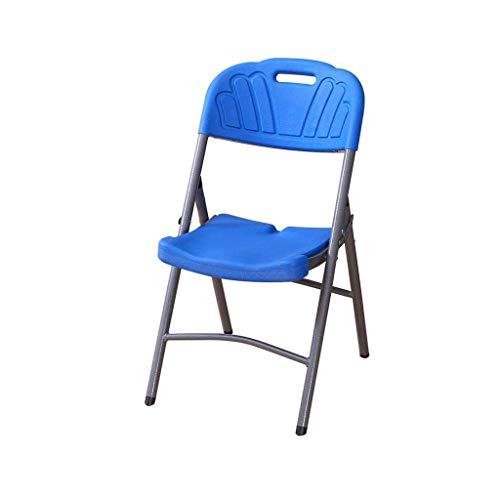 GWFVA Klappstuhl Blau Kunststoff gepolstert Esszimmerstuhl Rückenlehne Stuhl Schreibtischstuhl Modern
