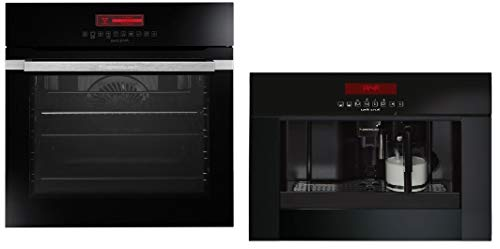 Küppersbusch SET Einbau Backofen Pyrolyse EEBP 6750.0 plus Kaffee Vollautomat EKV 6750.0 Design Jet-Black (schwarz)