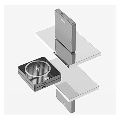 XIBEI Banco de Potencia inalámbrico magnético portátil Power Mobile 5000MAH, mag-Cause Caliente Caliente Caliente Power 15 W, 20W USB-C Rápido, Adecuado para iPhone 12/12 Mini/Pro/MAX (Color : Gray)
