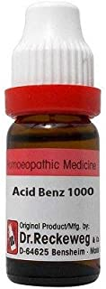 Dr. Reckeweg Acid Benzoicum 1M (1000 CH) (11ml) - Pack Of 1 Bottle & (Free St. George's COF MIX - An Ideal Remedy for COUG...