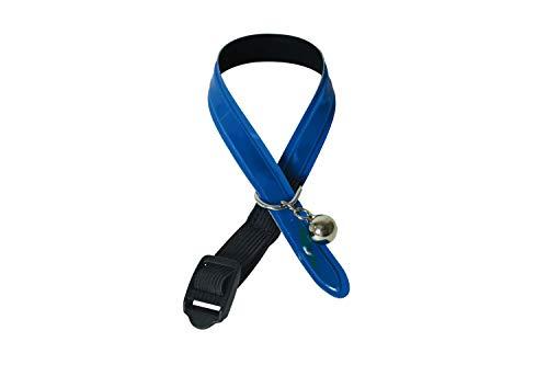 Martin-Sellier - Collier pour chat - sécurité - Réflectite Bleu (30cm x 12mm)