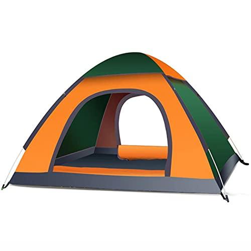 AMAZOM Tenda da Campeggio, Tenda Familiare Impermeabile con Parapioggia Rimovibile E Borsa per Il Trasporto, Tenda Leggera per Campeggio, Viaggi, Zaino in Spalla, Escursionismo,Arancia