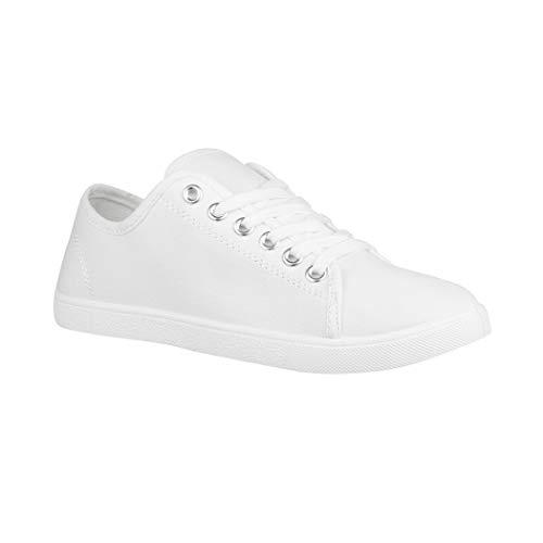 Elara Damen Sneaker Basic Chunkyrayan CL33318 White-39