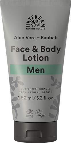 Urtekram Aloe Vera und Baobab Gesichts- und Körperlotion für Männer BIO, nahrhaft und pflegend, 150 ml