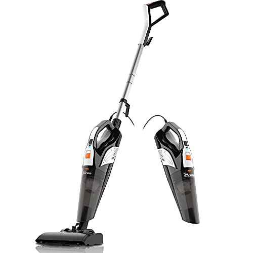 Hikeren Stick-Vacuums-Cleaner Corded-Quiet Powerful-Suction Portable with HEPA Filter 4 in 1/18000Pa Lightweight Pet for Hard Floor/Carpet/Hair