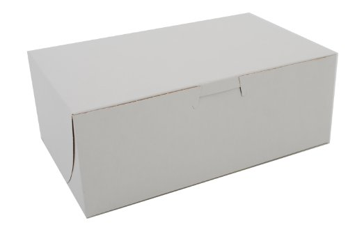 Southern Champion Tray 0925 Premium Clay Coated Kraft Paperboard White Non-Window Lock Corner Bakery Box, 8