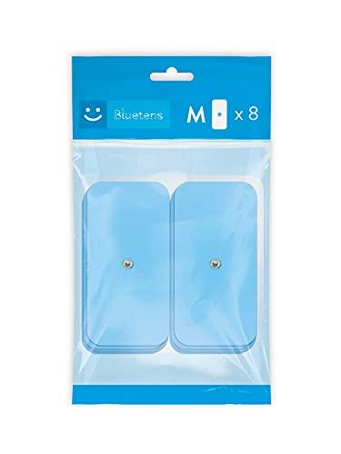 Bluetens ELEC0801 Electrodos TENS/EMS, M8, Pack Azul, 8 M