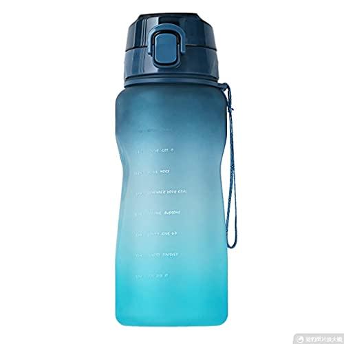 Borraccia motivazionale 67. Bottiglia d'acqua da 67 ml con paglia Scala temporale Mark riutilizzabile Tritan BPA - libera sport acqua brocca gradiente colore sport acqua brocca (colore: blu)