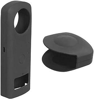 Lyeiaa Ricoh Theta Z1保護ケース 専用カバー マイク穴あり・ランプ表示可・表示パネル確認可 レンズキャップ付き 360全天球カメラ用