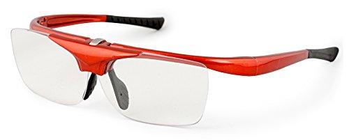 デューク 老眼鏡 跳ね上げ +3.0 度数 ハネアゲハイパー レッド DR-008-7+3.00