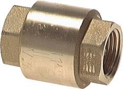 'Clapet anti-retour laiton – – Structure légère G 3/8, 46,5 mm, 12 bar, 0,02 Bar
