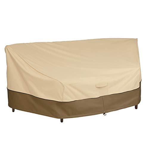 Classic Accessories Veranda Water-Resistant 46 Inch Patio Curved Sofa Sectional Cover